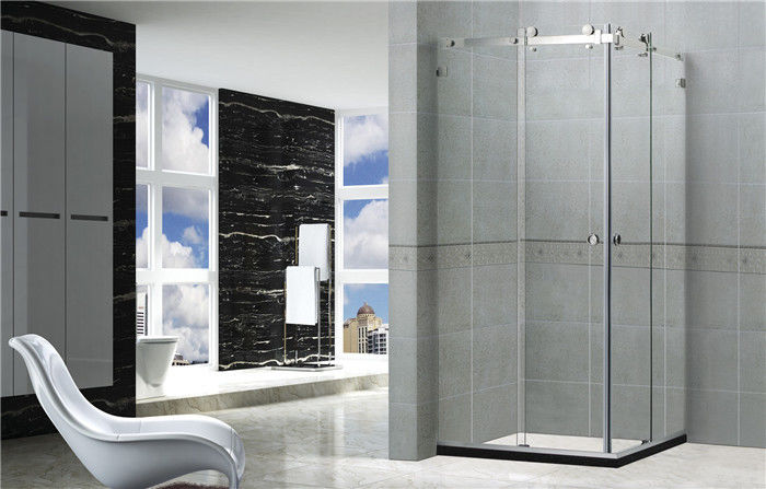 8MM Tempered Glass Frameless Shower Enclosures With Mirror Color Self - Cleaning