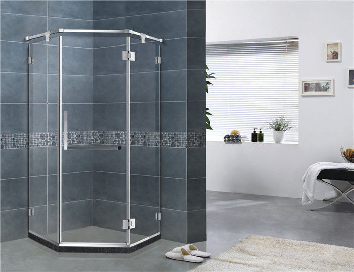 Mirror Color Corner Shower Enclosures Diamond Shape Hinged Style For House