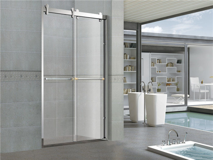 8 MM Glass Double Sliding Shower Doors With Stainless Steel Profiles and Accessories