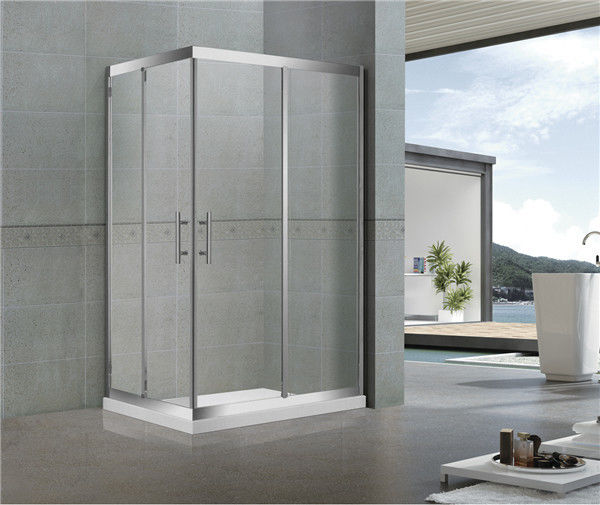 Full Stainless Steel Sliding Shower Enclosure / Full Shower Enclosure For Hotel