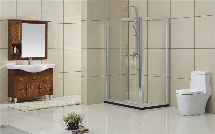 6MM Tempered Glass Rectangular Shower Enclosure Self - Cleaning Full Aluminum Alloy