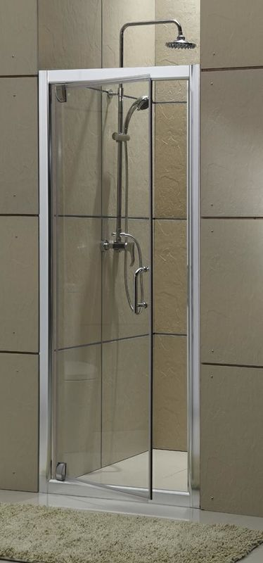 Matte Sliver Color Pivot Shower Screens Aluminum Alloy Single Swing Door With CSI Certification