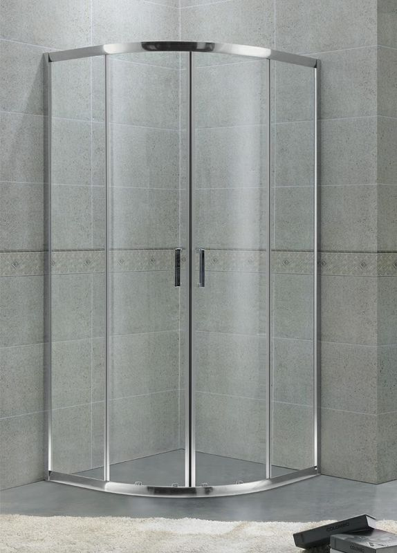 Economic Aluminum Alloy Quadrant Shower Enclosures Bright Sliver For Hotel / Home