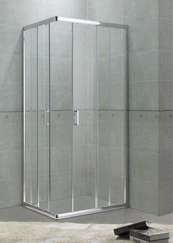 Full Aluminum Alloy Square Shower Enclosure 6MM Glass With Zinc Alloy Handle