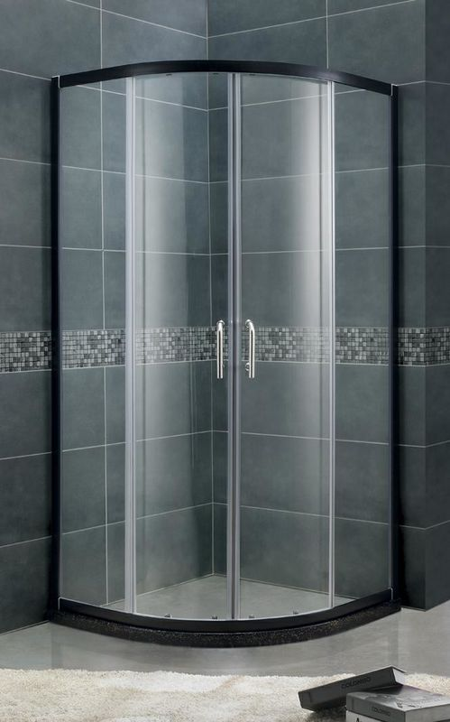 Customizable Round Sliding Shower Boxes with Aluminum Profiles and 6 / 8 mm Tempered Glass