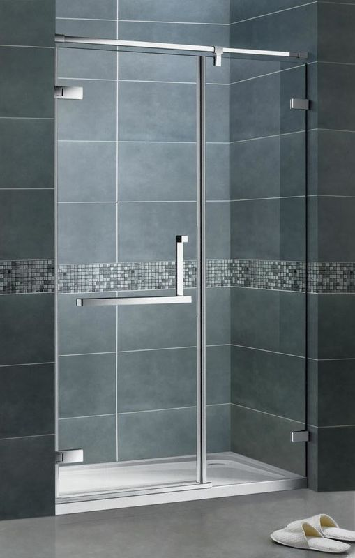 Economic Frameless Hinged Shower Screens  8MM Clear Tempered Glass SGCC Certification