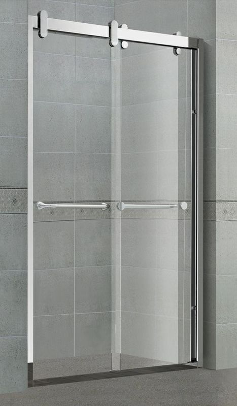 Corner Double Sliding Shower Stalls 8 / 10 MM Clear Glass With Frame for Home / Hotel