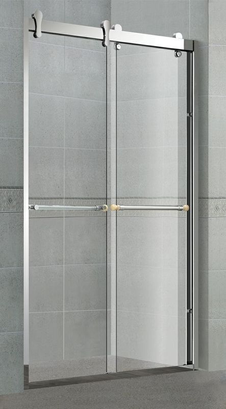 Big Hanging Rollers Shower Cubicles 8 MM Clear / Forsted Tempered Glass for Home / Hotel